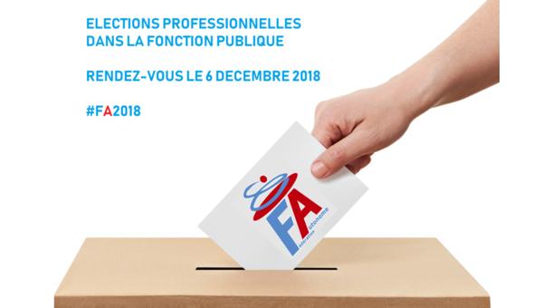 Elections professionnelles dans la Fonction Publique - Rendez-vous le 6 décembre 2018