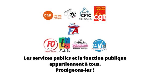 Les Services Publics et la Fonction Publique appartiennent à tous. Protégeons-les!