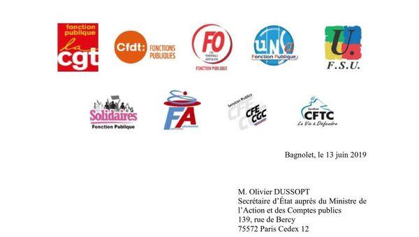 Pour l'avenir de la fonction publique et de ses agent-es, les organisations syndicales appellent à un rassemblement devant Bercy le 27 juin à 12h00