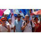 Rassemblement du 27 juin 2019 contre le Projet de loi d'extinction de la Fonction Publique - Prise de parole de Bruno Collignon Président de la FA-FP