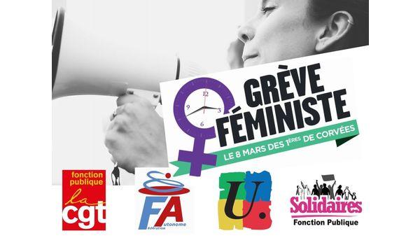 8 MARS 2021 TOUTES ET TOUS MOBILISÉS POUR FAIRE DE L'ÉGALITÉ FEMMES HOMMES UNE RÉALITÉ !
